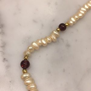 Jewelry - Pearl and Amethyst Necklace-16""